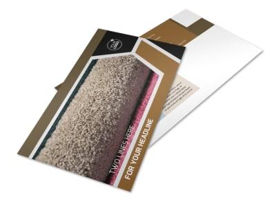 Carpet & Hardwood Flooring Postcard Template