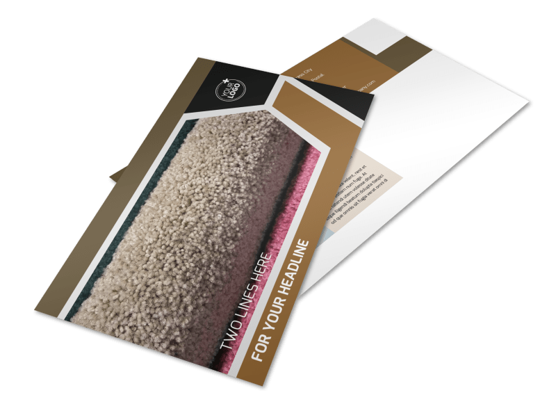 Carpet & Flooring Postcard Template Preview 1