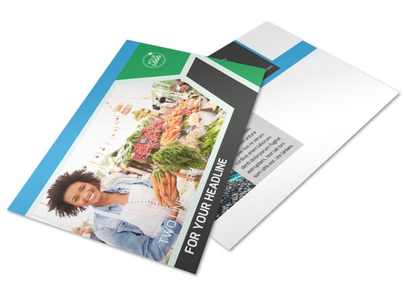 Fresh Farmers Market Postcard Template 2
