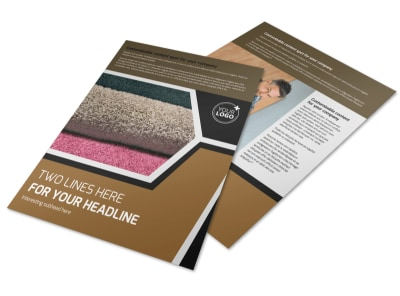 Carpet & Hardwood Flooring Flyer Template preview