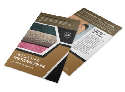 Carpet & Hardwood Flooring Flyer Template 3