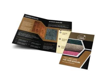 Carpet & Hardwood Flooring Bi-Fold Brochure Template preview