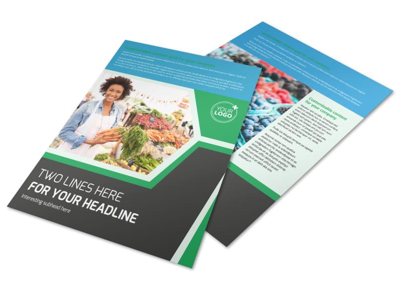 Fresh Farmers Market Flyer Template