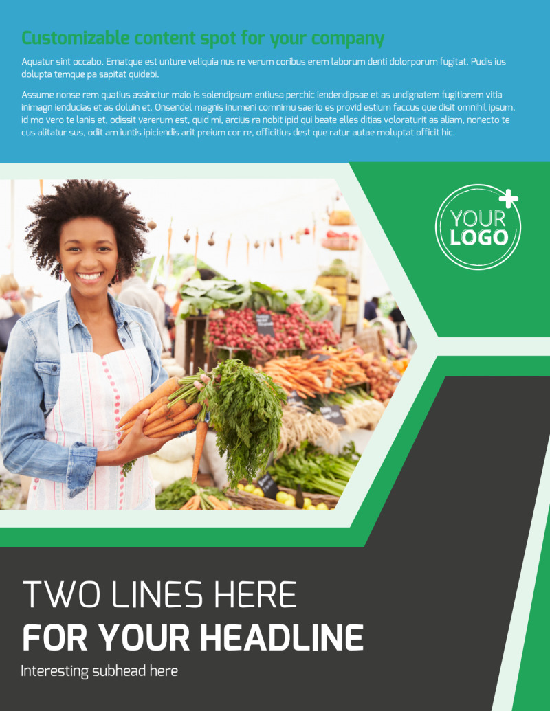 Fresh Farmers Market Flyer Template Preview 2