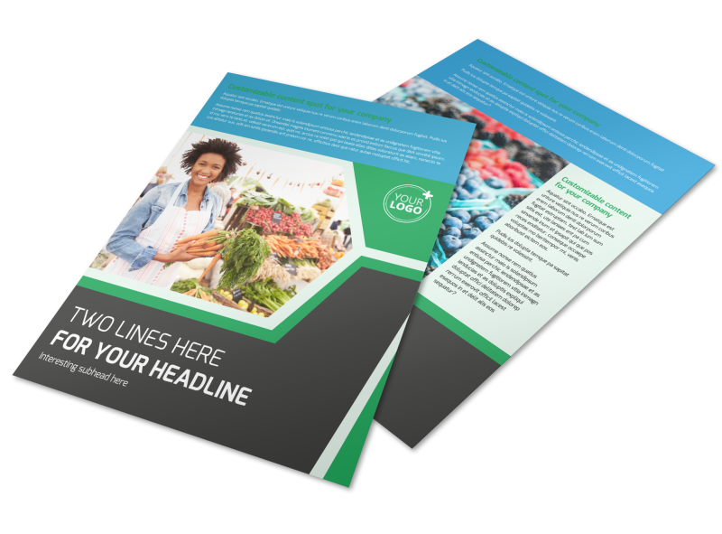Fresh Farmers Market Flyer Template Preview 1