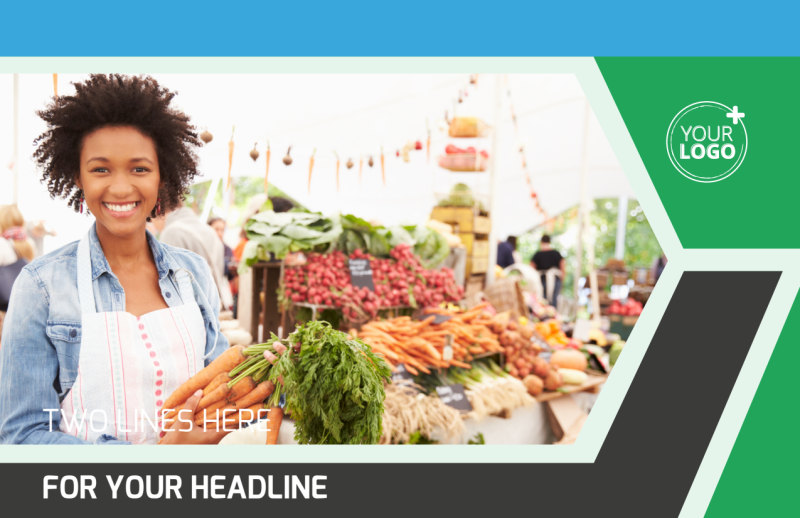 Fresh Farmers Market Postcard Template Preview 2