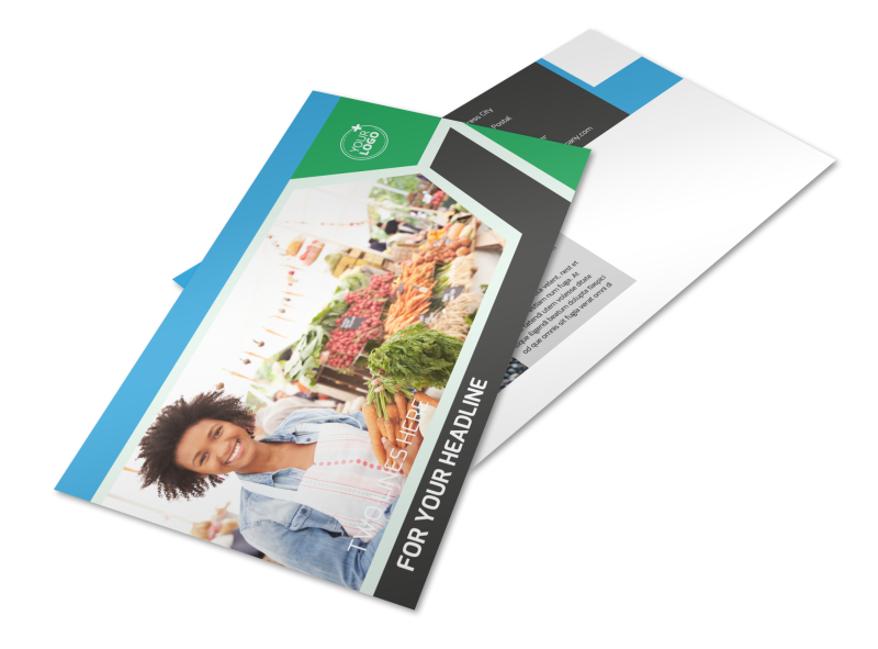 Fresh Farmers Market Postcard Template Preview 1