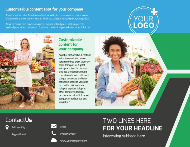 Fresh Farmers Market Brochure Template Preview 2