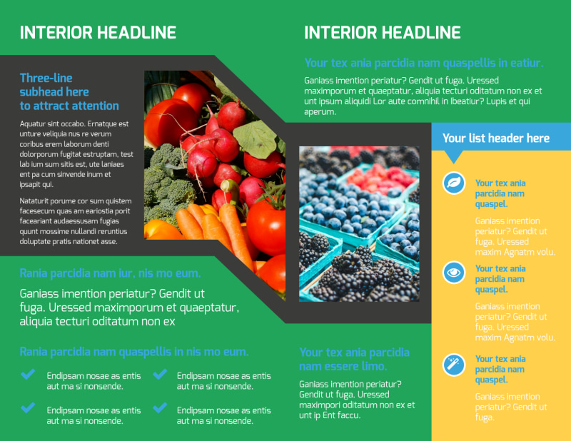 Fresh Farmers Market Brochure Template Preview 3