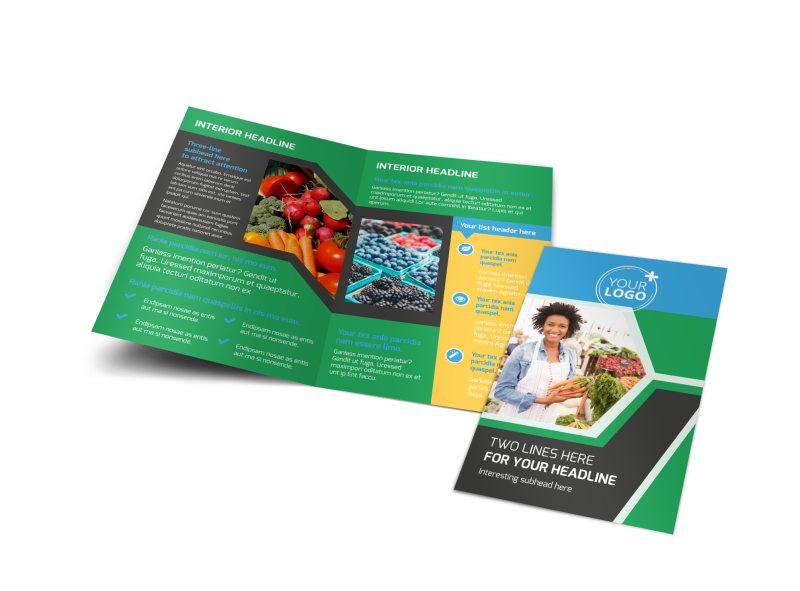 Fresh Farmers Market Brochure Template Preview 1
