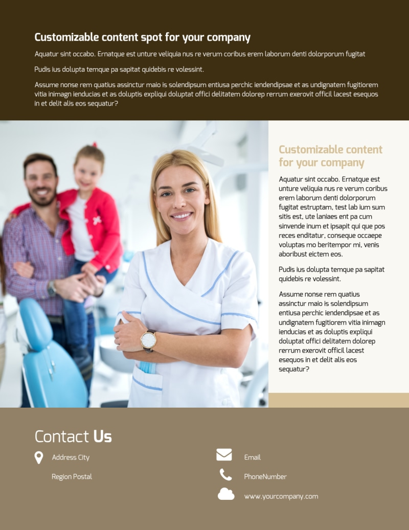 Dental Clinic Flyer Template Preview 3