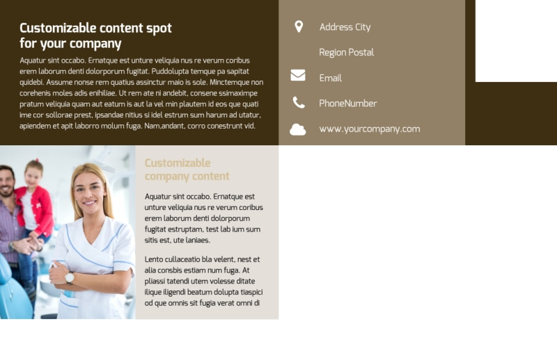 Dental Clinic Postcard Template Preview 3