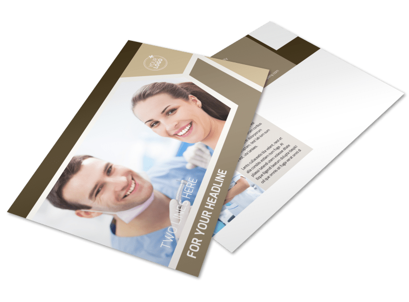 Dental Clinic Postcard Template Preview 1