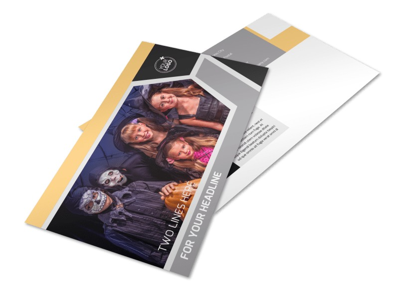 Halloween Party Postcard Template Preview 4
