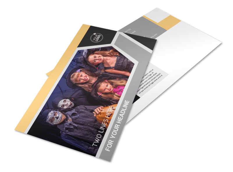 Halloween Party Postcard Template Preview 1