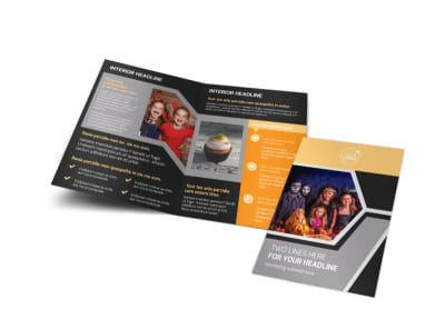 Halloween Party Bi-Fold Brochure Template preview