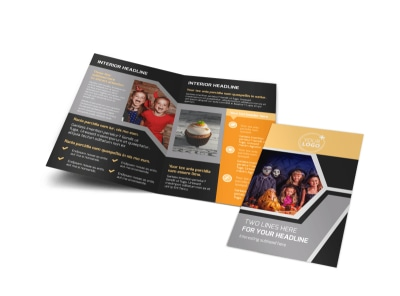 Halloween Party Bi-Fold Brochure Template