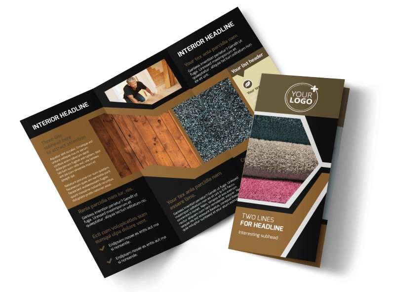 Carpet & Hardwood Flooring Tri-Fold Brochure Template