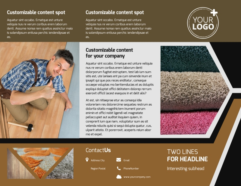 Carpet & Flooring Brochure Template Preview 2