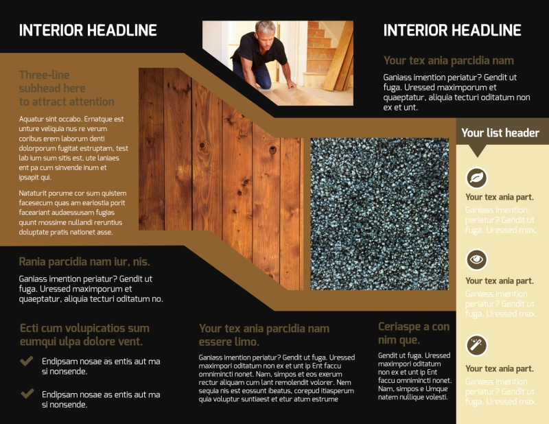 Carpet & Flooring Brochure Template Preview 3