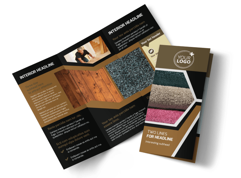 Carpet & Flooring Brochure Template Preview 1