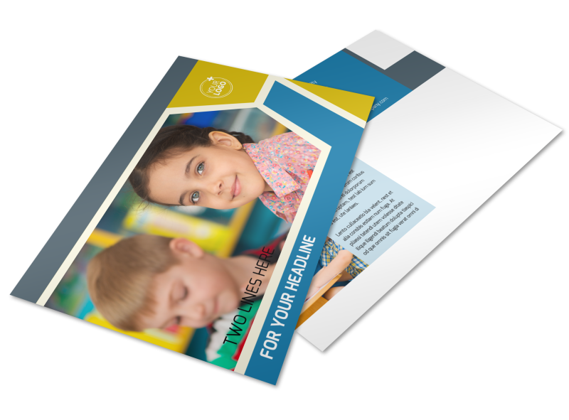 Child Development Postcard Template Preview 1