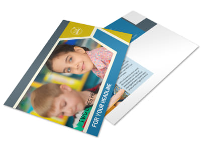 Child Development Postcard Template