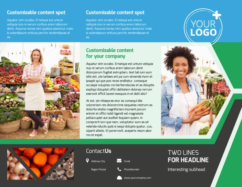 Fresh Farmers Market Brochure Template Preview 2