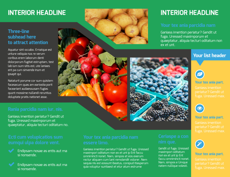Fresh Farmers Market Brochure Template Preview 3