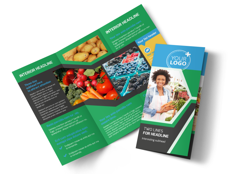 Fresh Farmers Market Brochure Template Preview 1
