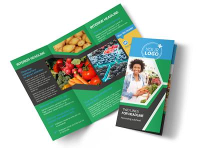 Farmers Market Tri Fold Brochure Template preview