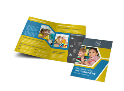 Child Development Bi-Fold Brochure Template