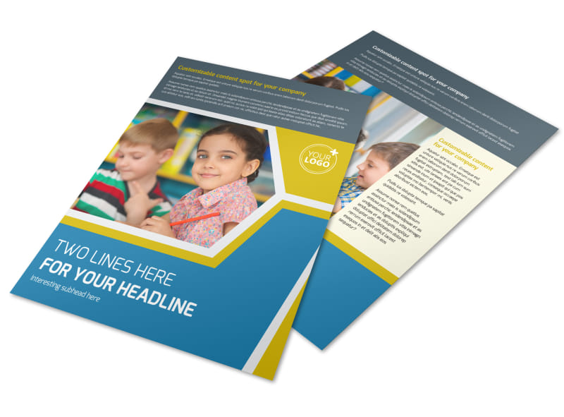Child Development Flyer Template