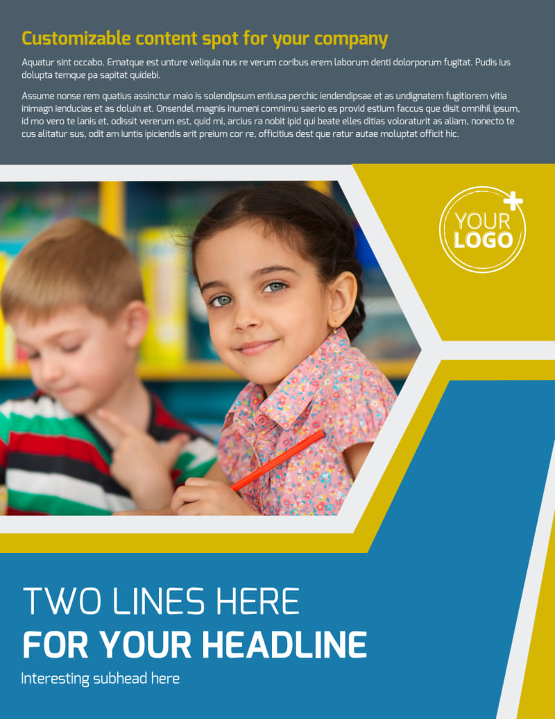Child Development Flyer Template Preview 2