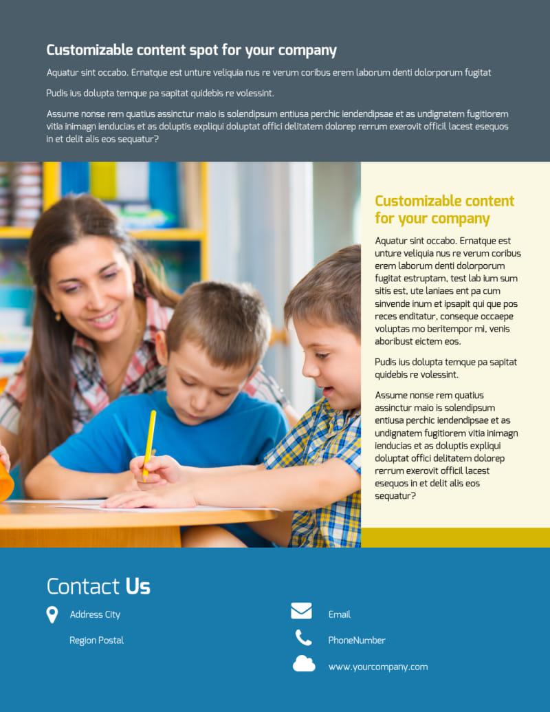 Child Development Flyer Template Preview 3