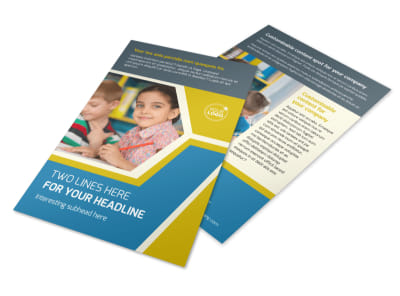 Child Development Flyer Template 3