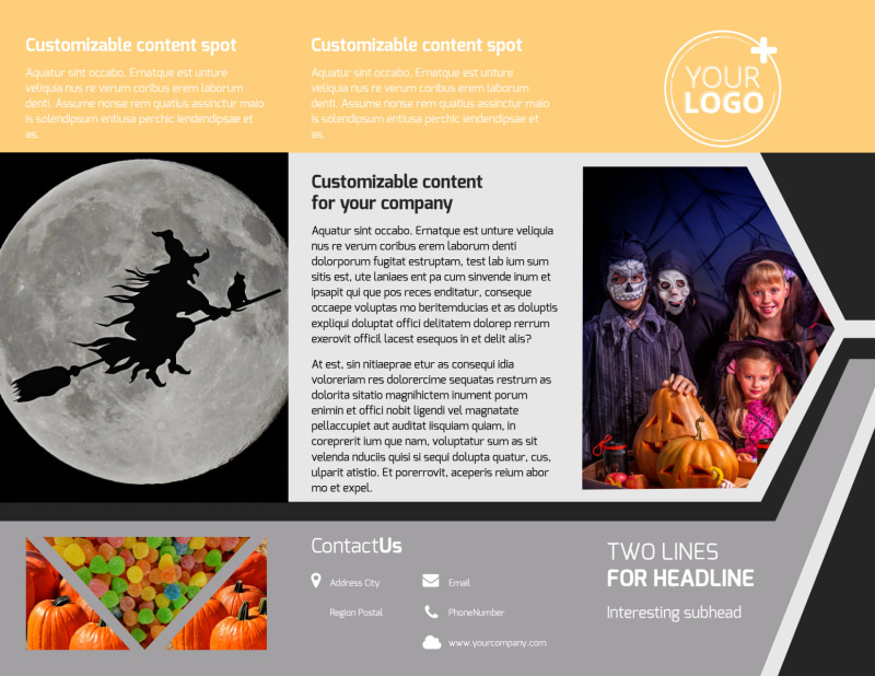Halloween Party Brochure Template Preview 2