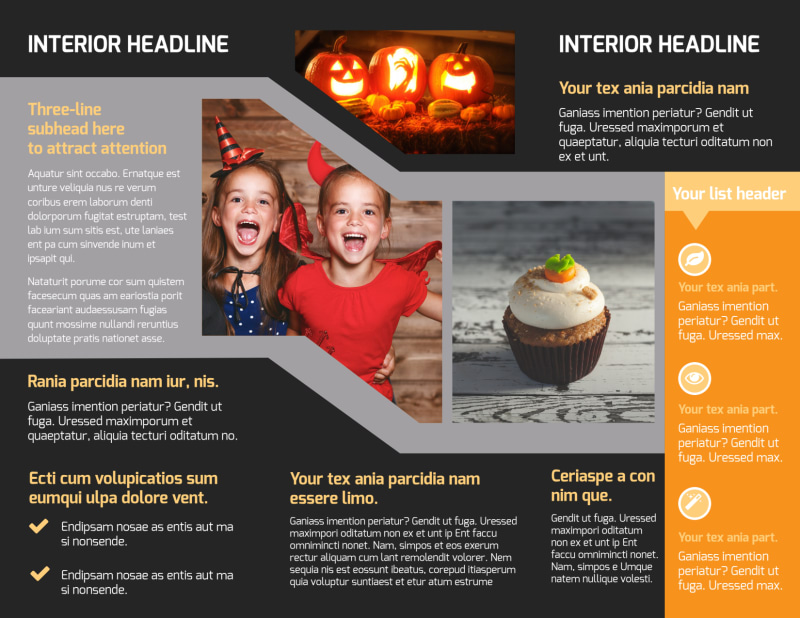 Halloween Party Brochure Template Preview 3