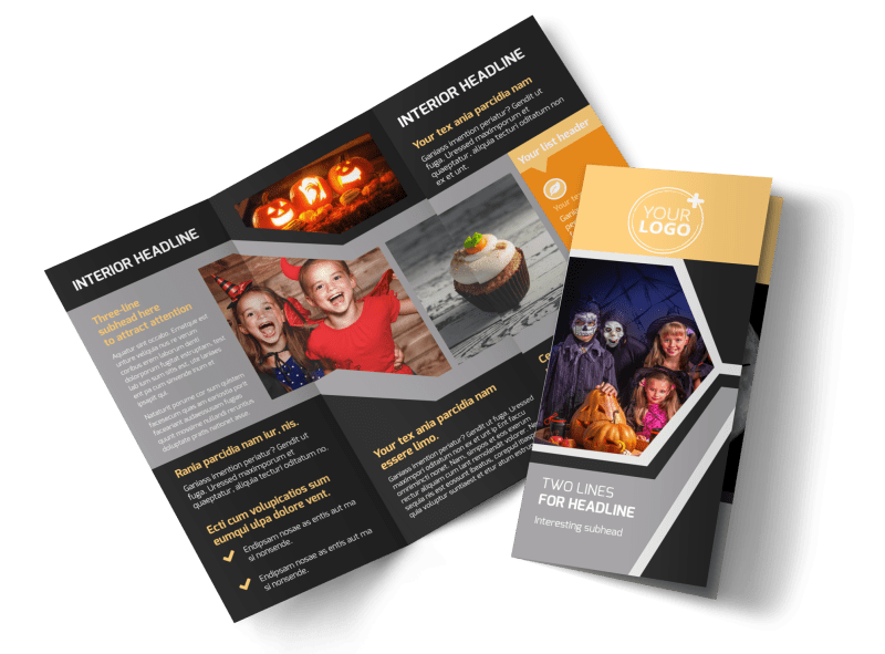 Halloween Party Brochure Template Preview 1