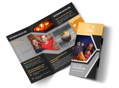 Halloween Party Tri-Fold Brochure Template preview