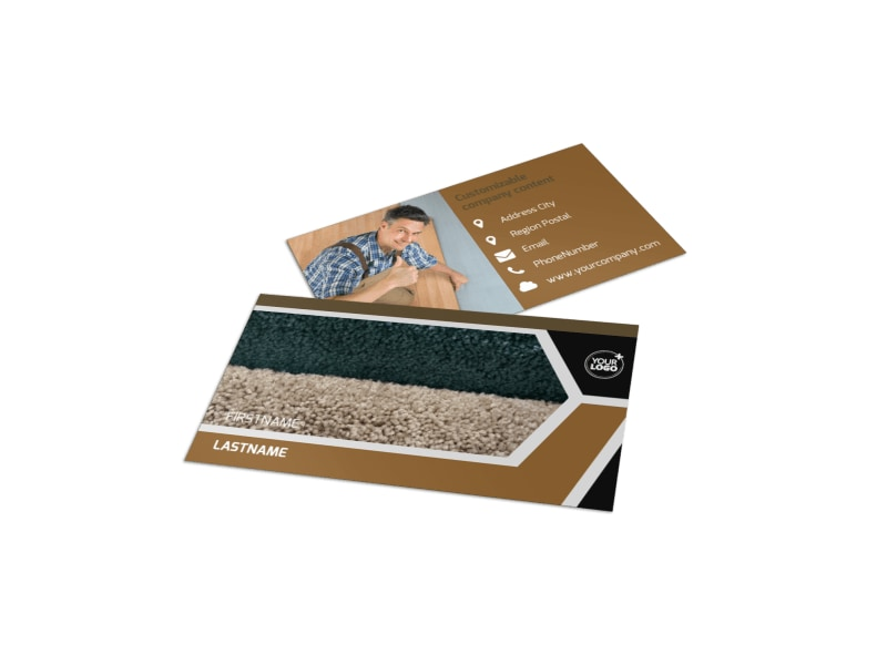 carpet flooring business card template - Flooring Business Cards