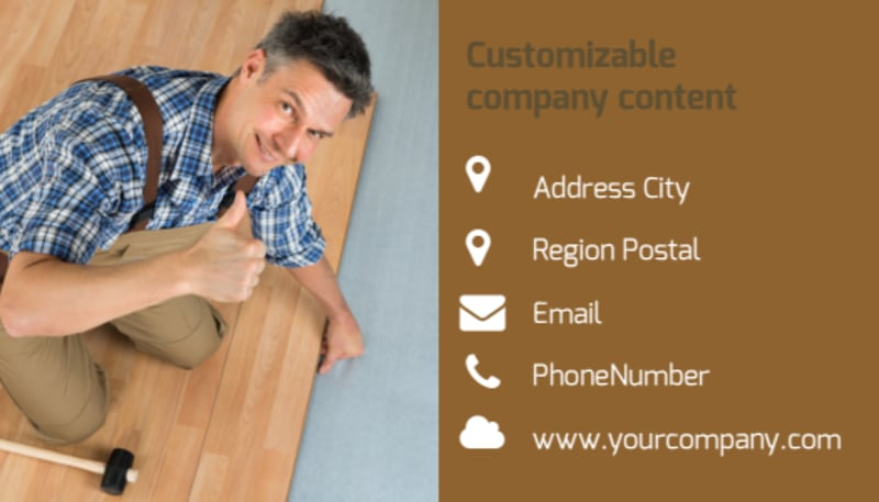 Carpet & Flooring Business Card Template Preview 3
