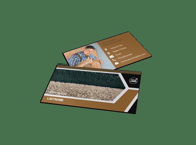 Carpet & Flooring Business Card Template Preview 1
