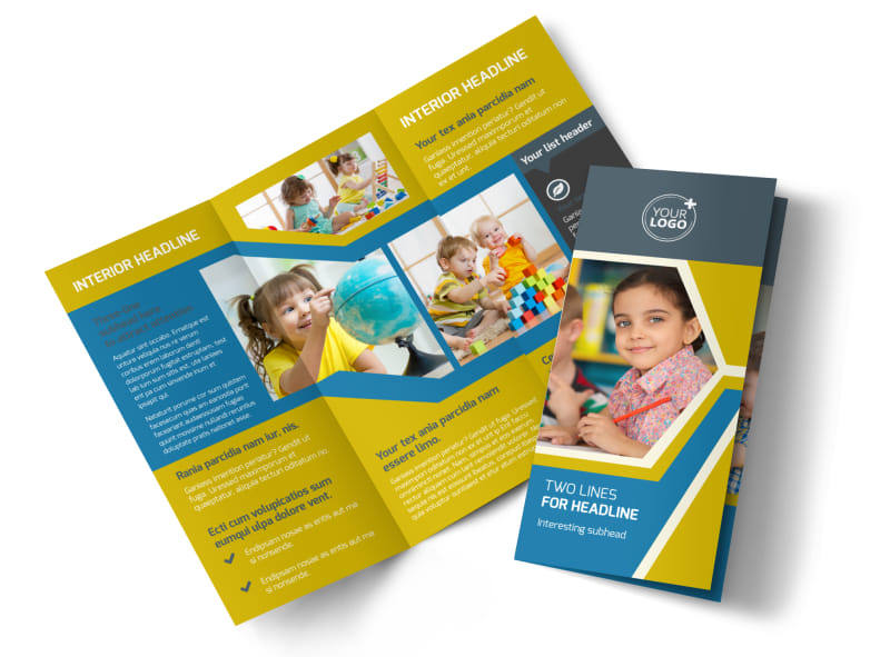 Child Development Brochure Template Preview 4