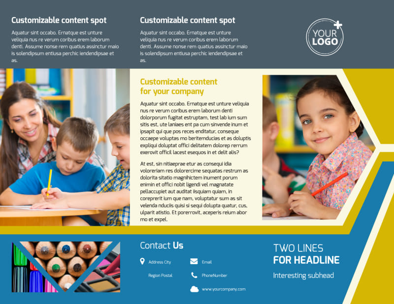 Child Development Brochure Template Preview 2