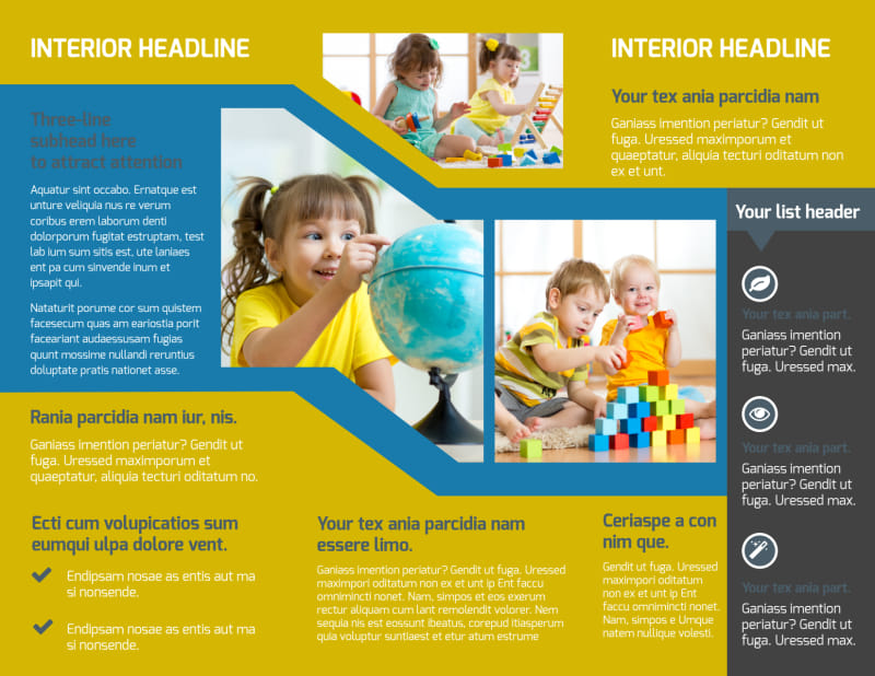 Child Development Brochure Template Preview 3
