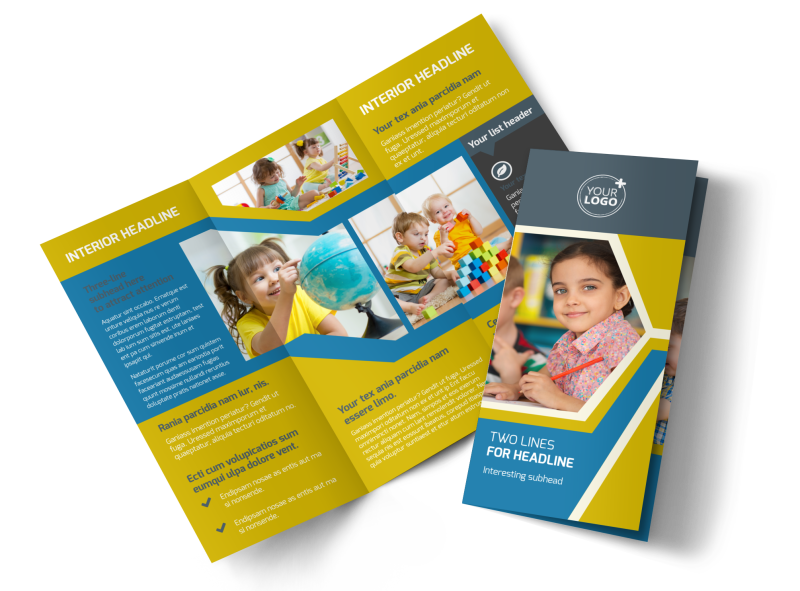 Child Development Brochure Template Preview 1