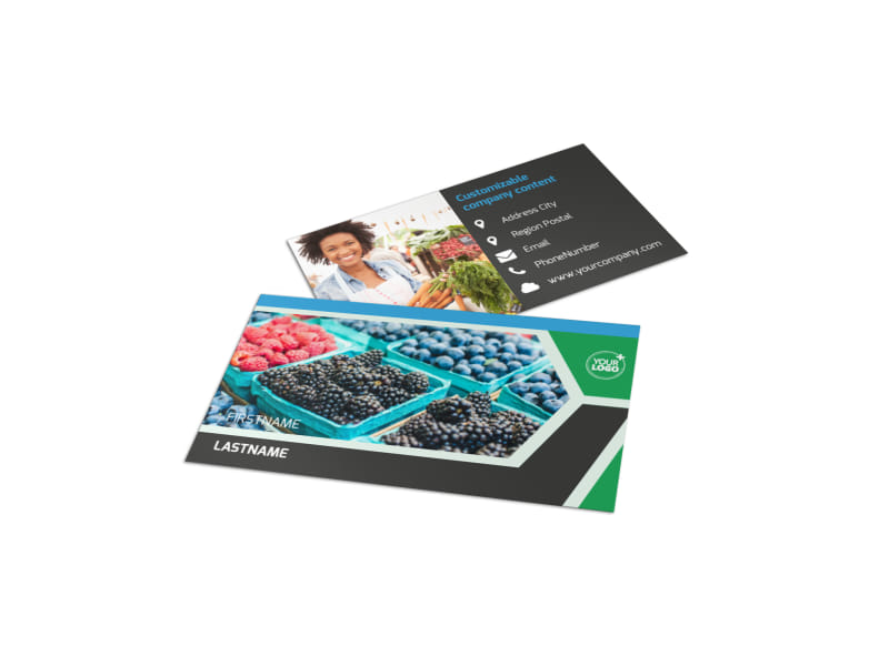 Fresh Farmers Market Business Card Template