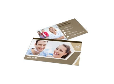 Orthodontist Business Card Template preview