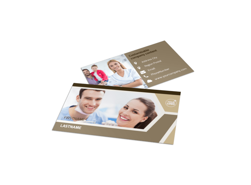 Dental Clinic Business Card Template Preview 1